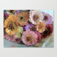 shabby chic Canvas Prints featuring Shabby&Chic by Joke Vermeer