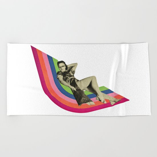 Ride the Rainbow Beach Towel
