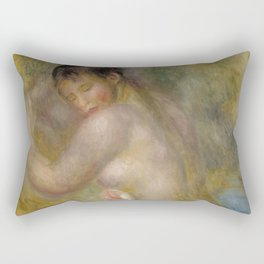 "Auguste Renoir ""La baigneuse"" Rectangular Pillow"