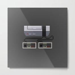 NES 8-Bit Console Metal Print
