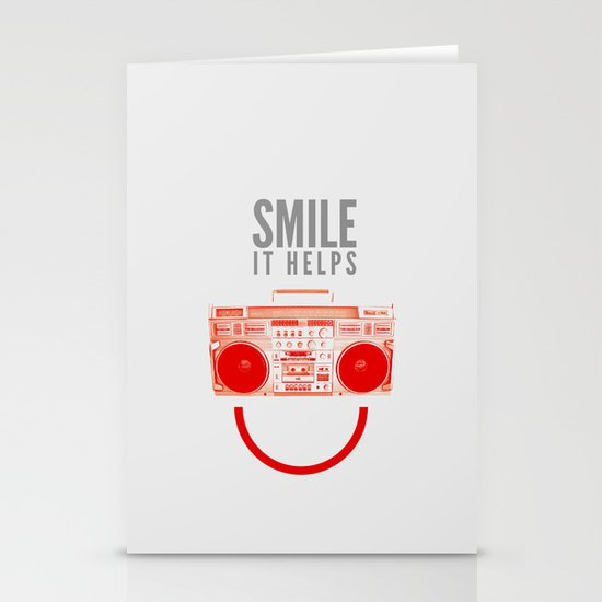 Smile. It Helps. Stationery Cards