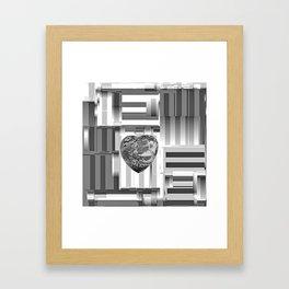 Jasper Heart in Vacancy Framed Art Print