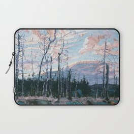 Tom Thomson - Burnt Land at Sunset  - Canada, Canadian Oil Painting - Group of Seven Laptop Sleeve