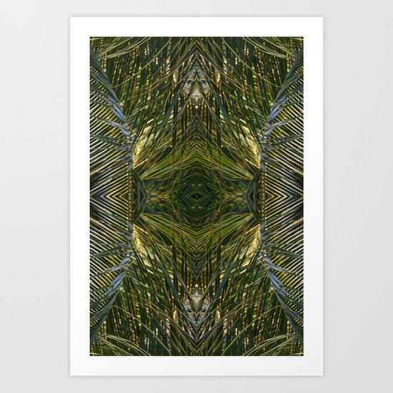 Coconut Leaf Collage 3 Art Print