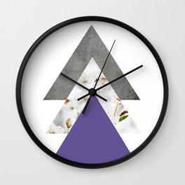Ultra Violet Blossoms Arrows Wall Clock
