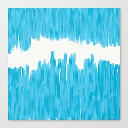 Sea of Blue Painted Canvas Print