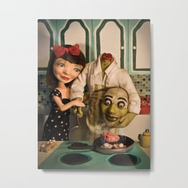 Cooking with Heart Metal Print