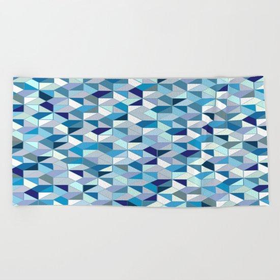 Geometrica (blue) Beach Towel