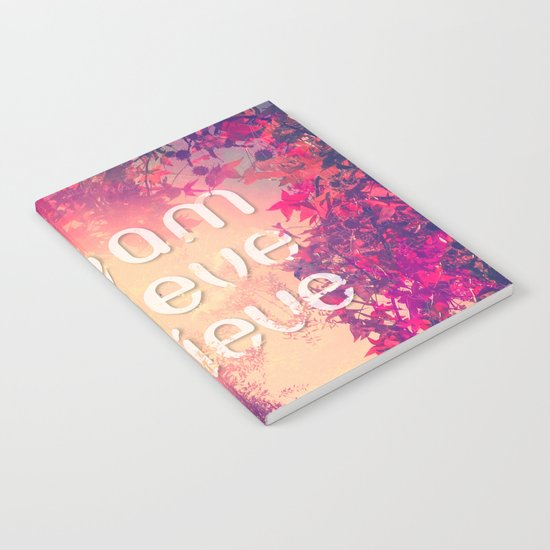 Autumn Sunshine and Pink Purple Maple Trees Notebook
