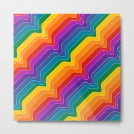 Rainbow Wave Metal Print