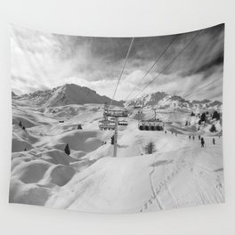 8 Seat Chair Lift B&W Wall Tapestry