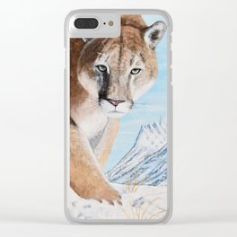 Mountain Lion in the Rockies Clear iPhone Case