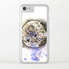 Star Wars Art Painting The Death Star Clear iPhone Case