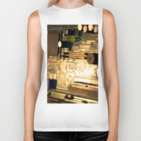 technology Biker Tanks featuring Sunset Technology by Encore Designs
