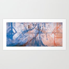 The rooftop Art Print