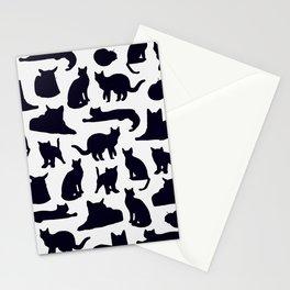 Grumpy Cats - Dark Navy Palette Stationery Cards