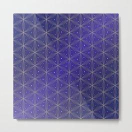 Flower of life purple pattern Metal Print