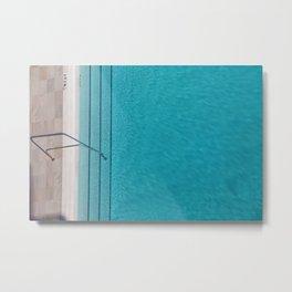 Beautiful Summer Pool Metal Print