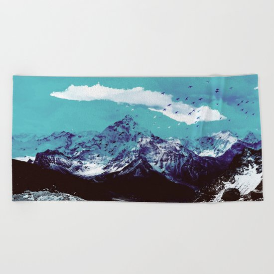 Mountain Range Beach Towel