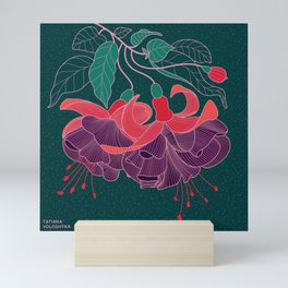 Fuchsia Flowers Mini Art Print
