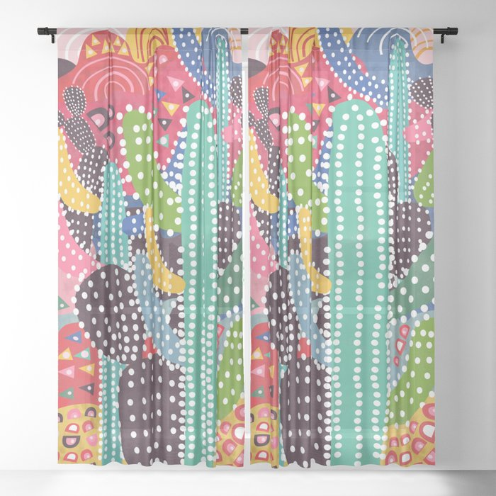 Summer Heat Sheer Curtain