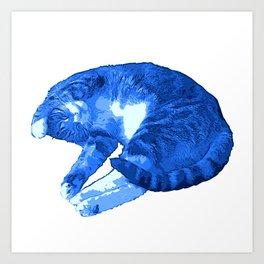 Beautiful Blue Cat Illustration Art Print