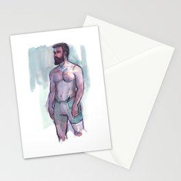 CHRIS, Semi-Nude Male by Frank-Joseph Stationery Cards