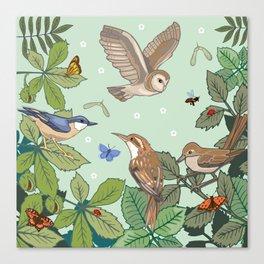 Woodland Birds Canvas Print