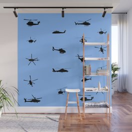 Helicopter Pattern Wall Mural