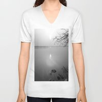 serenity V-neck T-shirts featuring serenity by  Agostino Lo Coco