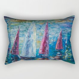 Sails To-Night by Lena Owens Rectangular Pillow