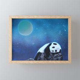 Panda painting Framed Mini Art Print
