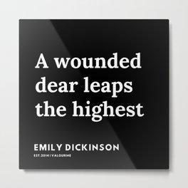44    | Emily Dickinson Quotes | 191130 Black Metal Print