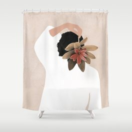 With a Flower Shower Curtain