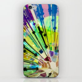 Abstract Kaleidoscopic Colour Riot #2 iPhone Skin