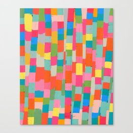 colorful patchwork 2 Canvas Print