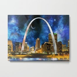 Spacey St. Louis Skyline Metal Print