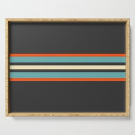 Classic Retro Stripes Amikiri Serving Tray