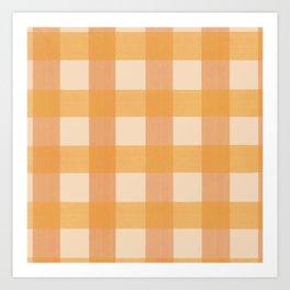 Orange Plaid Art Print