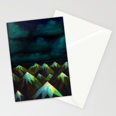 Night Mountains.  Stationery Cards