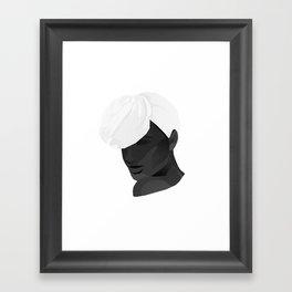 Miss Foulard Framed Art Print