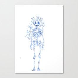 Skeletal Wisdom Canvas Print
