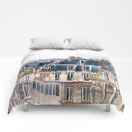 Roofs of Paris Comforters