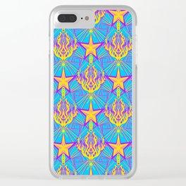 Starfire Kaleidoscope (Apollo Flame) Clear iPhone Case