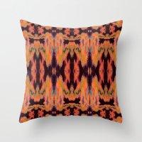kilim Throw Pillows featuring Azra Kilim by Nina May Designs
