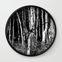 Little Cottonwood Canyon Aspen Trees Wall Clock