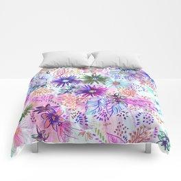 Eden Floral Multi White Comforters