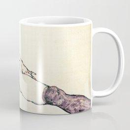 Egon Schiele - reclining female (new color editing) Coffee Mug
