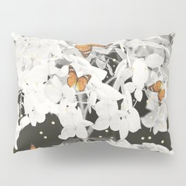 Hydrangea And Butterflies in Frame #decor #society6 Pillow Sham