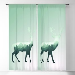 Deer Stag Elk Roe Fawn Moose Double Exposure Surreal Wildlife Animal Blackout Curtain